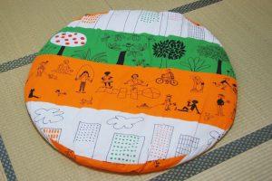 洛中高岡屋せんべい座布団カバーの作り方!IKEAの北欧生地で手作りしてみた