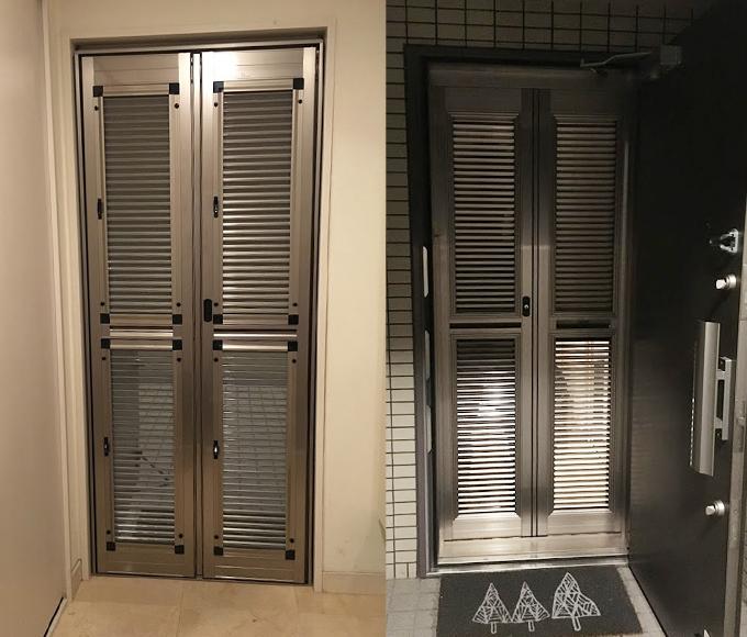 マンションの玄関網戸取り付けはルーバー網戸が絶対おすすめ!ロール式から買い直して大満足です